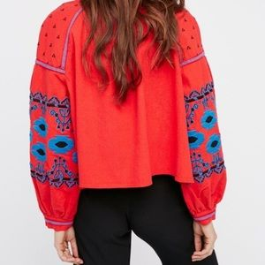 Free People Embroidered Jacket SZ: xs